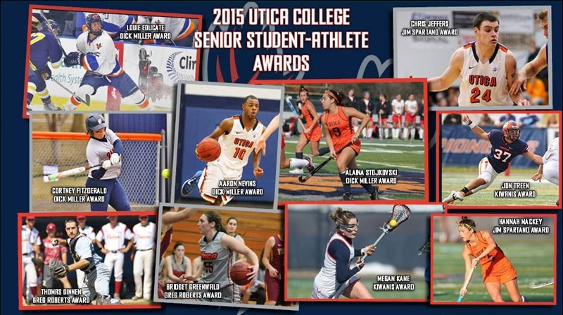 As Colleges Educate Players On >> 2015 Senior Student Athlete Award Winners Utica College Athletics